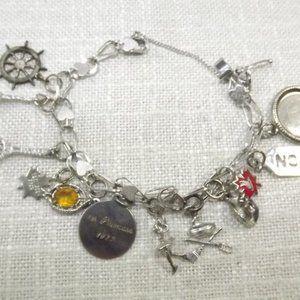 Jewelry - Vintage Sterling Silver Charm Bracelet + 12 Charms